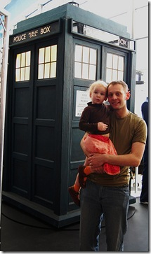 me and Alice by the Tardis