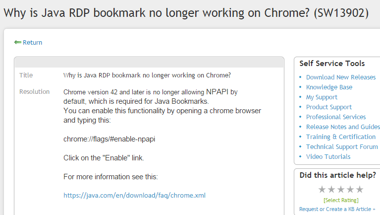 Sonicwall SRA Java Bookmarks Stop Working In Chrome – Andy's
